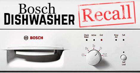 Bosch Dishwasher Recall 2015