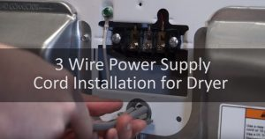 3 Wire Power Supply Cord Installation