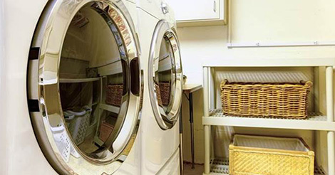 clean behind washer and dryer
