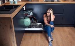 dishwasher door not closing
